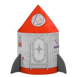 Sitzsack Dotcom Rocket - Webstoff - Rot / Grau, SITTING POINT