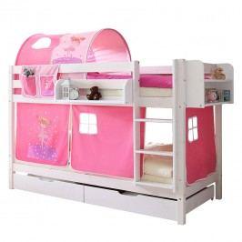 Etagenbett Marcel II - Kiefer massiv - Pink/Rosa - Basismodell, Ticaa
