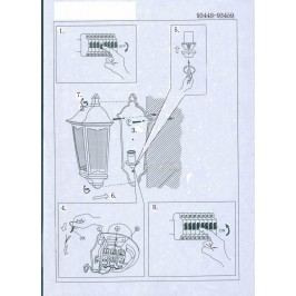 EEK A++, Außenwandleuchte Navedo IV - Glas / Aluminium - 1-flammig - Weiß, Eglo