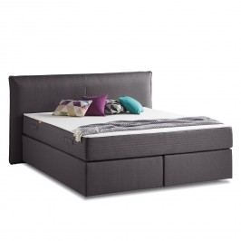Boxspringbett Smood Colour I - Strukturstoff - 140 x 200cm - Grau, Smood