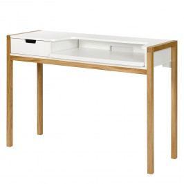 Schreibtisch Halling (ausziehbar) - Wildeiche teilmassiv - Wildeiche / Weiß, Morteens