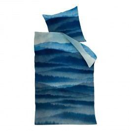Bettwäsche Mountain View - Baumwollstoff - Blau - 135 x 200 cm + Kissen 80 x 80 cm, Beddinghouse