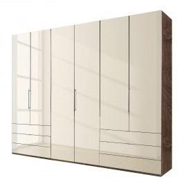 Falttürenschrank Loft III - Glas Magnolie / TrŸffeleiche Dekor, Wiemann