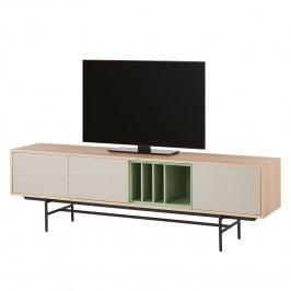 TV-Lowboard Caspito - Hellgrau / Eiche, Studio Copenhagen