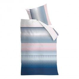 Bettwäsche Senn - Satin - Blau / Rosa - 200 x 220 cm + 2 Kissen 80 x 80 cm, Beddinghouse