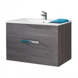 Waschtisch Adamo I - Eiche Rauchsilber Dekor - 81 cm, Trendteam