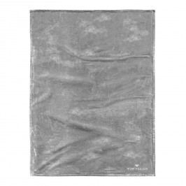 Fleece Decke Angorina - Silber, Tom Tailor