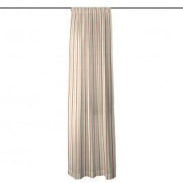 Vorhang mit Kräuselband - Creme/Rot Streifen - 130x260 cm, Maison Belfort