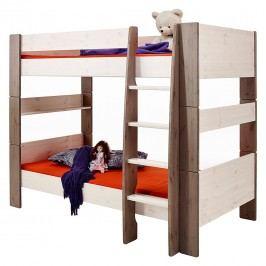 Etagenbett Steens for Kids - Kiefer massiv - White Wash/Stone, Steens