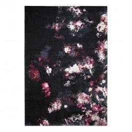 Teppich Nocturnal Flowers - Kunstfaser - Mehrfarbig - 133 x 200 cm, Esprit Home