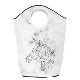 Wäschesammler Unicorn on Marble - Webstoff - Schwarz / Weiß, Butter Kings