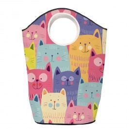 Wäschesammler Cats in Colours - Webstoff - Mehrfarbig, Butter Kings