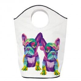 Wäschesammler Bulldog Babies - Webstoff - Weiß / Lila, Butter Kings