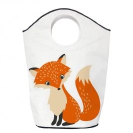 Wäschesammler Foresty Fox - Webstoff - Weiß / Orange, Butter Kings