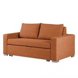 Schlafsofa Latina Webstoff - 170 cm - Stoff Doran Orange, mooved