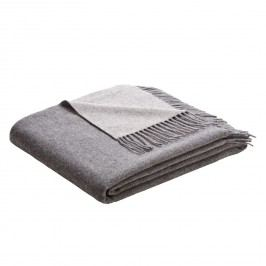 Plaid Cosy Luxury - Wolle - Creme / Grau, Biederlack