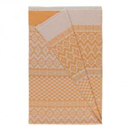 Plaid Modary - Baumwollstoff - Orange / Creme, Pandora
