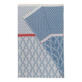 Plaid Farr - Baumwollstoff - Hellblau / Weiß, Pandora