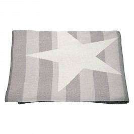 Plaid T-Cotton Star - Baumwollstoff - Beige / Grau, Tom Tailor