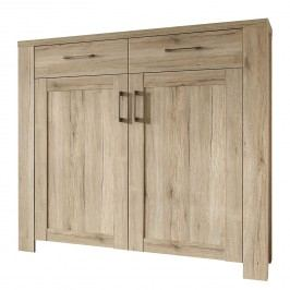 Highboard Capel II - Eiche Sanremo Dekor, mooved