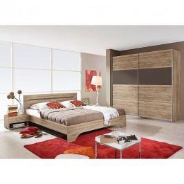 Schlafzimmerset Rubi II (4-teilig) - Sanremo Eiche Dekor/Lavagrau - Liegefläche: 180 x 200 cm, Rauch Packs