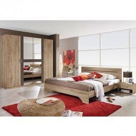 Schlafzimmerset Rubi I (4-teilig) - Sanremo Eiche Dekor/Lavagrau - Liegefläche: 160 x 200 cm, Rauch Packs
