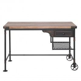 Schreibtisch Water Pipe - Stahl - Eiche Vintage Dekor / Schwarz, Neue Modular