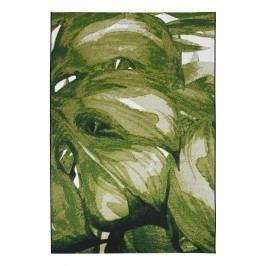 Kurzflorteppich Garden Palm - Kunstfaser - Grün - 160 x 230 cm, Tom Tailor