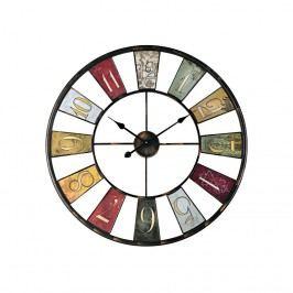 Wanduhr Wheel - Metall - Bunt, Pure Day