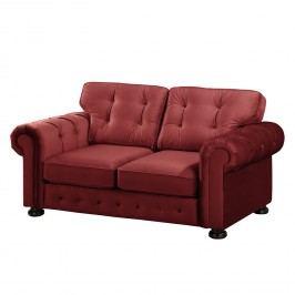 Sofa Marau (2-Sitzer) Samt - Rot, reconcept