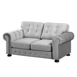 Sofa Marau (2-Sitzer) Samt - Hellgrau, reconcept