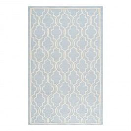Wollteppich Elle - Wolle - Pastellblau - 182 x 274 cm, Safavieh
