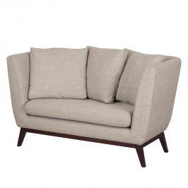 Sofa Sagone (2-Sitzer) Webstoff - Hellgrau, Morteens