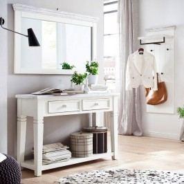 Garderoben-Set Opia I (3-teilig) - Kiefer massiv - Weiß/Weiß Vintage, Maison Belfort