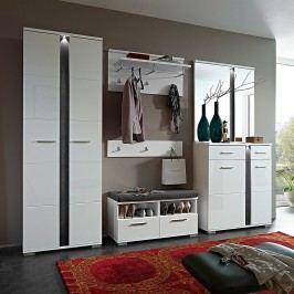 EEK A+, Garderobenset Campo (6-teilig) - Hochglanz Weiß, loftscape