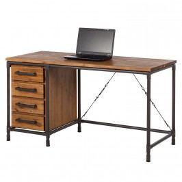 Schreibtisch Atelier - Akazie teilmassiv / Metall, ars manufacti