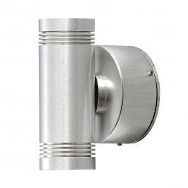 EEK A+, LED Wandleuchte Monza Small - Aluminium - 2-flammig, Konstsmide