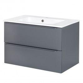 Waschtisch Ares - Weiß / Basalt - 77,5 cm, Schildmeyer