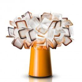 EEK A++, Tischleuchte Clizia I - Lentiflex / Edelstahl - 1-flammig - Orange, Slamp