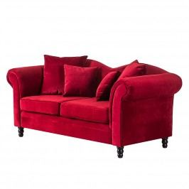 Sofa York (2-Sitzer) - Samtstoff Rot, Jack and Alice