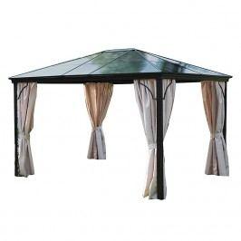 Profi-Pavillon Boss - Aluminium/Kunststoff/Polyester - Anthrazit/Natur, Leco