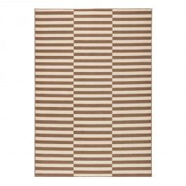 Teppich Panel - Kunstfaser - Braun / Creme - 120 x 170 cm, Top Square