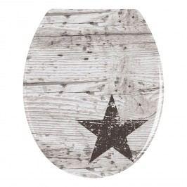 WC-Sitz Star - Duroplast - Grau / Weiß, Wenko