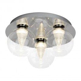 EEK A+, LED-Deckenleuchte Metropolis Spiral - Glas / Stahl - 3-flammig - Chrom, Brilliant Living