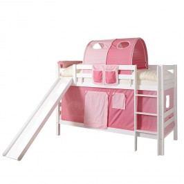 Etagenbett Lupo I - Rosa / Pink - Weiß, Ticaa
