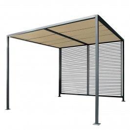 Pergola Modern Style - Webstoff / Stahl - Lichtgrau / Anthrazit, Leco