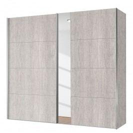 Schwebetürenschrank Madrid - Eiche Platin Dekor / Spiegelglass - 200 cm (2-türig), Express Möbel