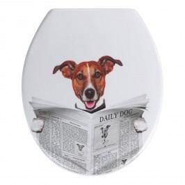 WC-Sitz Daily Dog - Duroplast - Weiß / Braun, Wenko