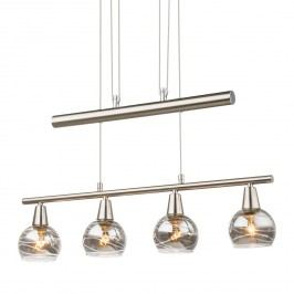 EEK A++, LED-Pendelleuchte Roman Lines - Glas / Metall - 4-flammig, Globo Lighting