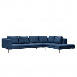 home24 Studio Copenhagen Ecksofa Madison I Blau Webstoff 319x66x230 cm